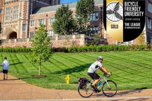 WashU Named a Gold Bicycle Friendly University