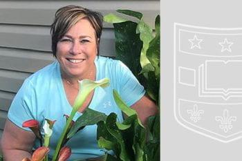 Operations Team Leader Dawn Breeden in her garden