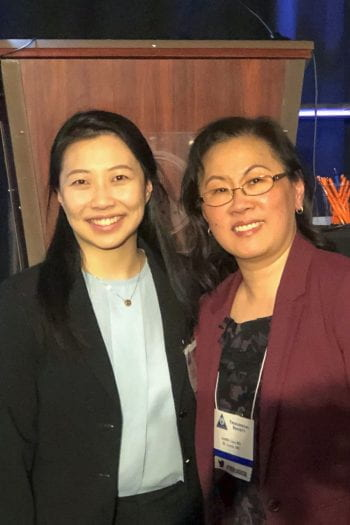 Med student Cathy Yu withj mentor Judy Lieu, MD