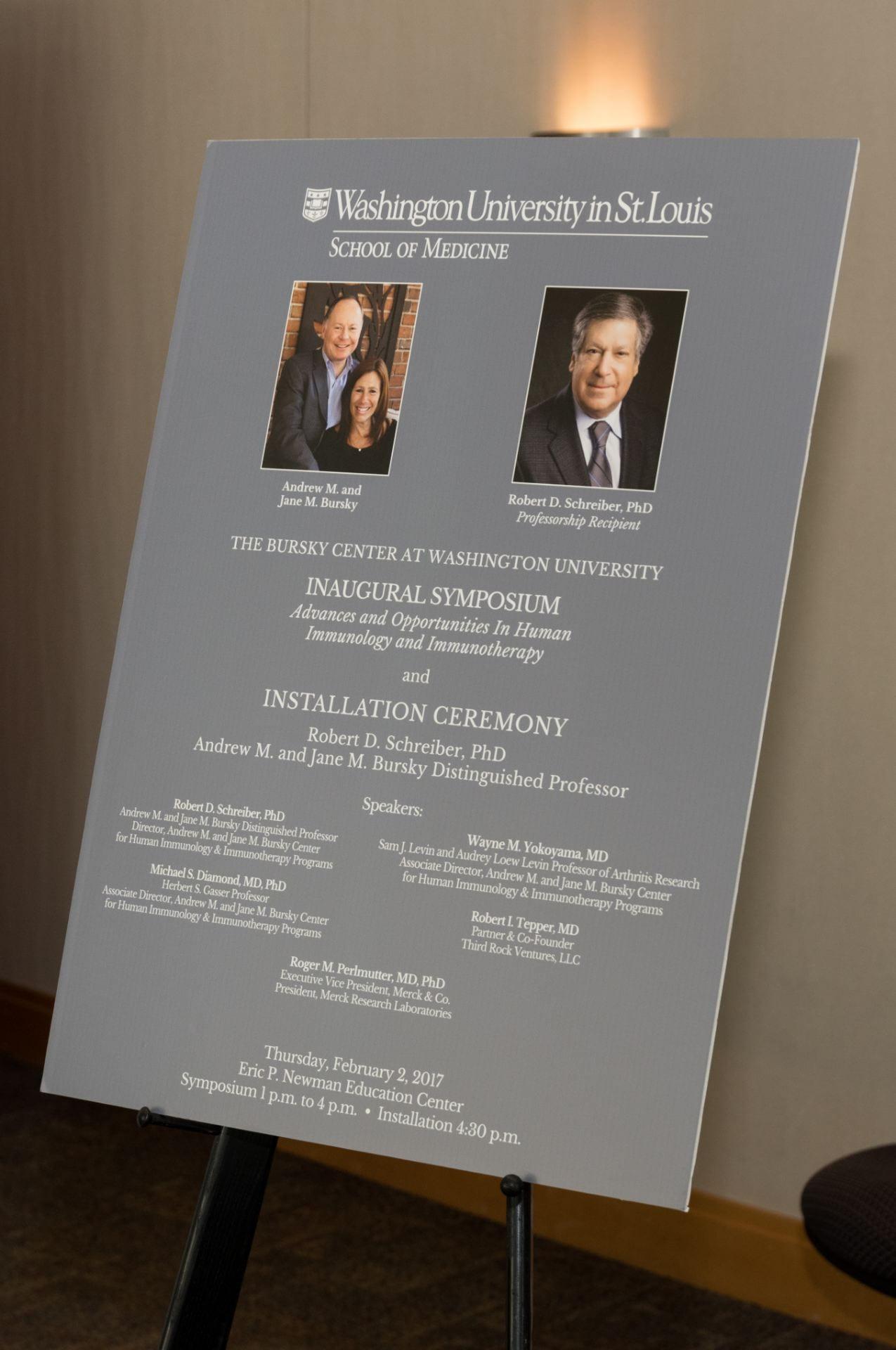 The Bursky Center at Washington University Inaugural Symposium and the Andrew M. and Jane M. Bursky Distinguished Professorship Installation held on Thursday, February 2, 2017