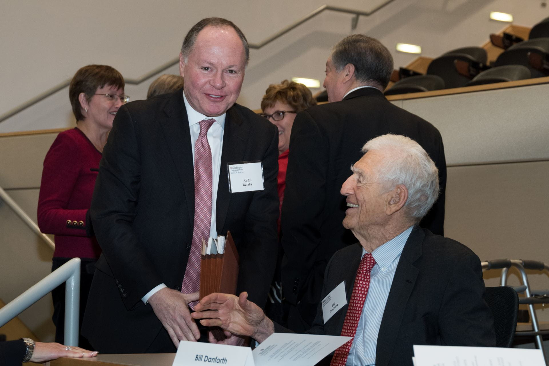 Andy Bursky and Chancellor Danforth