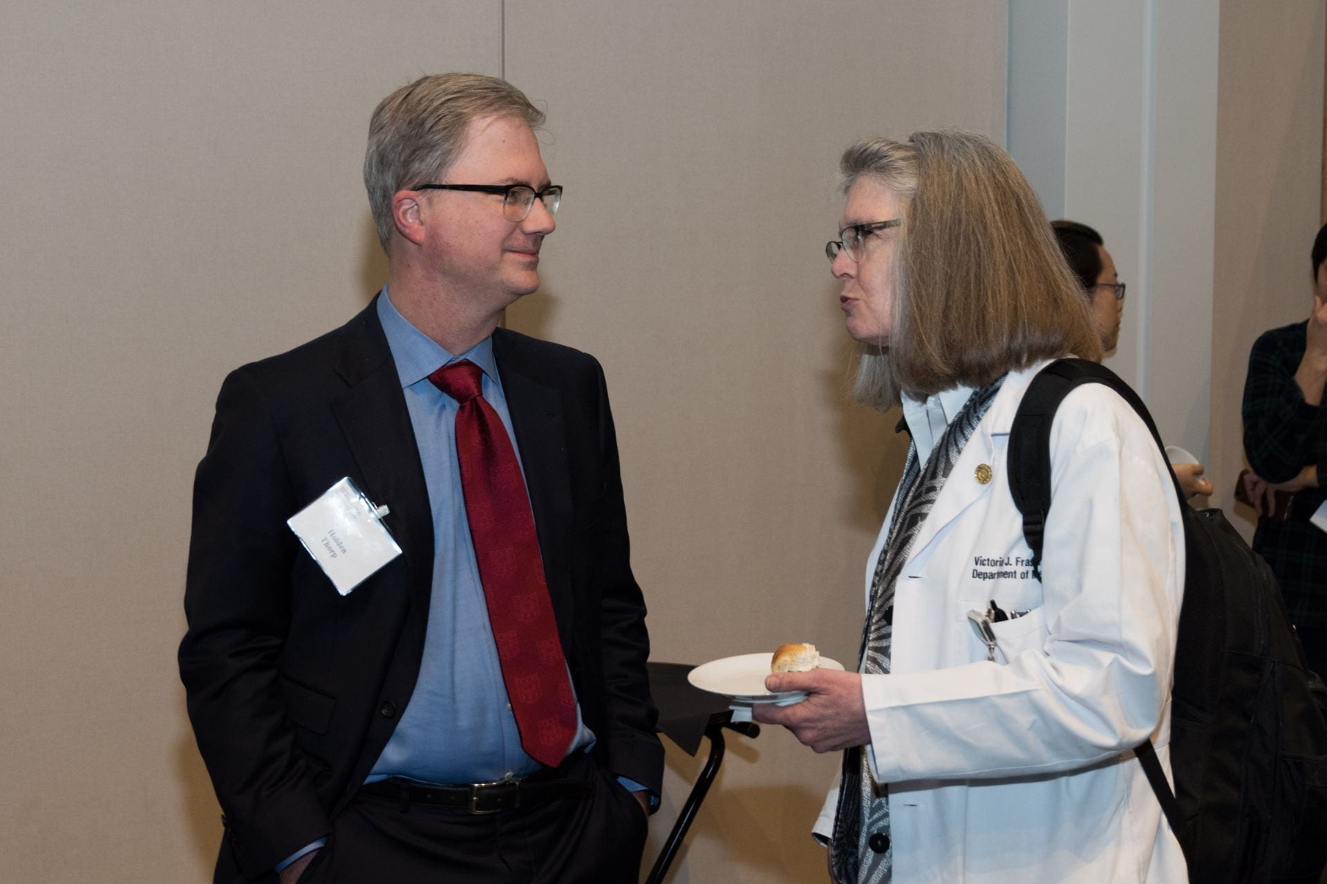 Provost Holden Thorp and Dr. Vicky Fraser