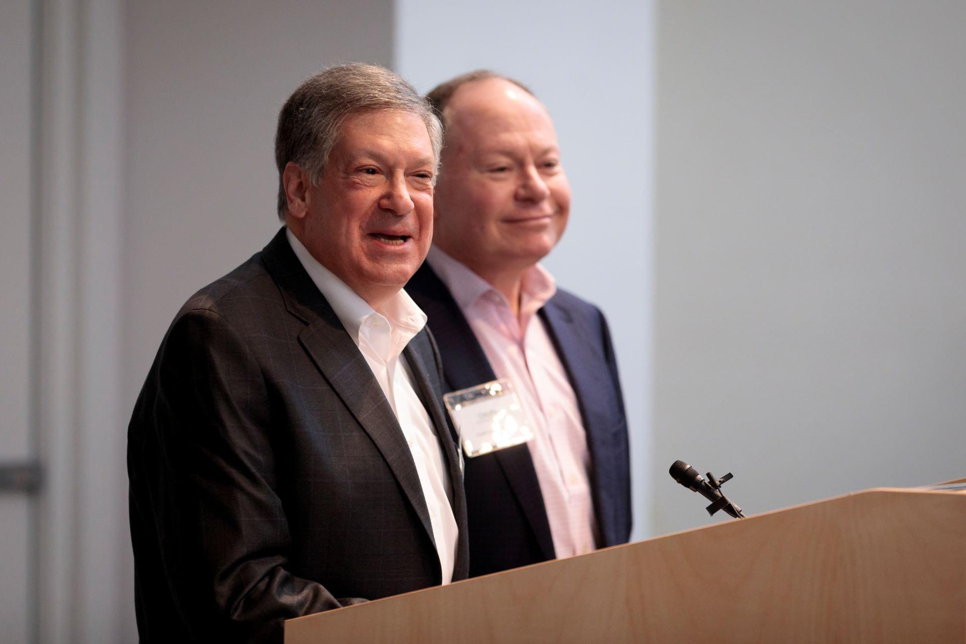 Robert Schreiber, PhD, left, and Andrew Bursky