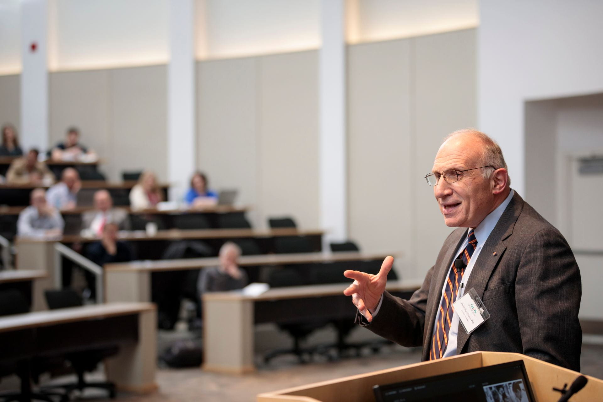 """Philip Needleman, PhD, gives a keynote speech """"Things I Learned at Washington University and Industry about Drug Discovery and Development"""""""