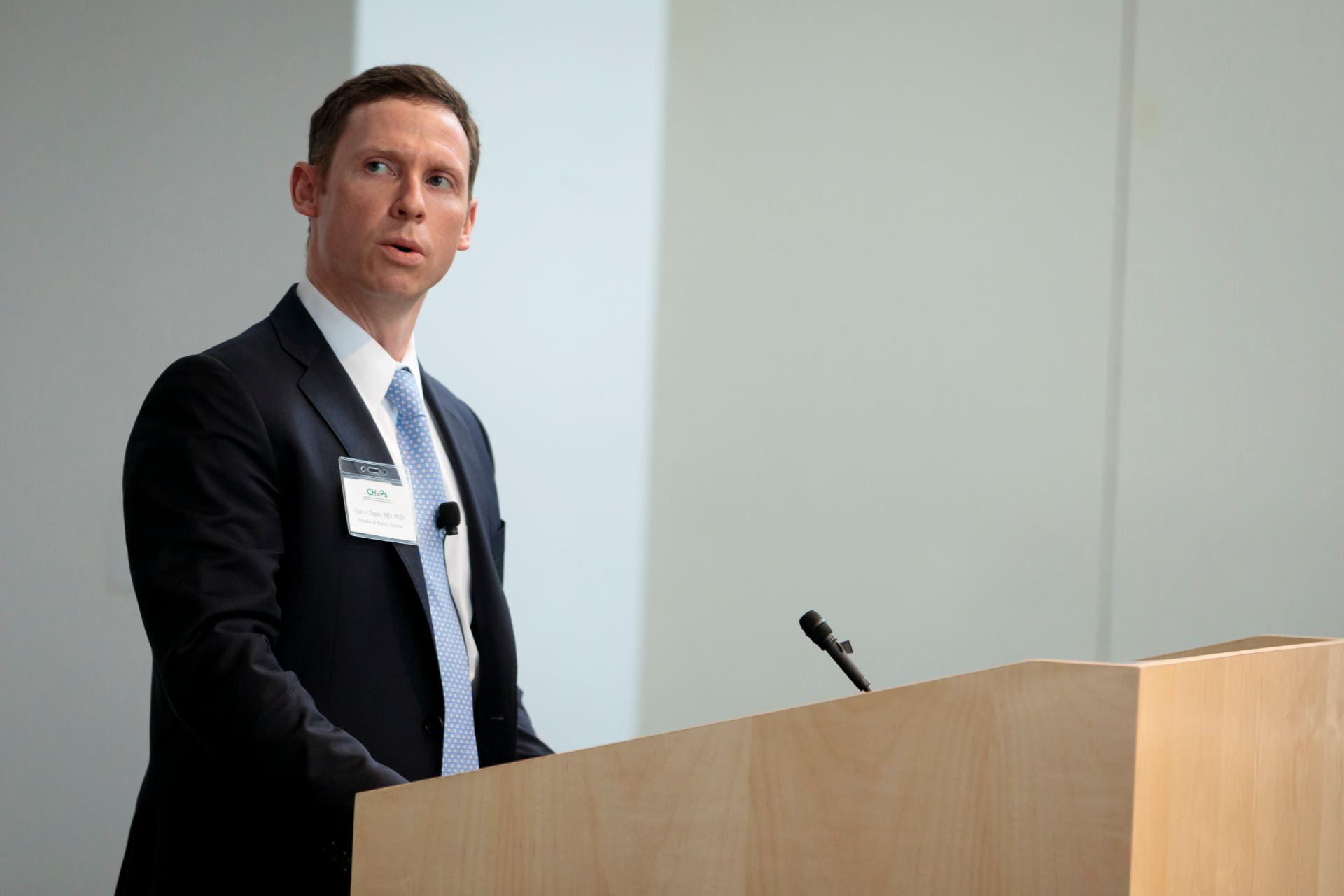 "Gavin Dunn, MD, PhD, gives his talk ""Leveraging Neoantigen Discovery in Glioblastoma"""