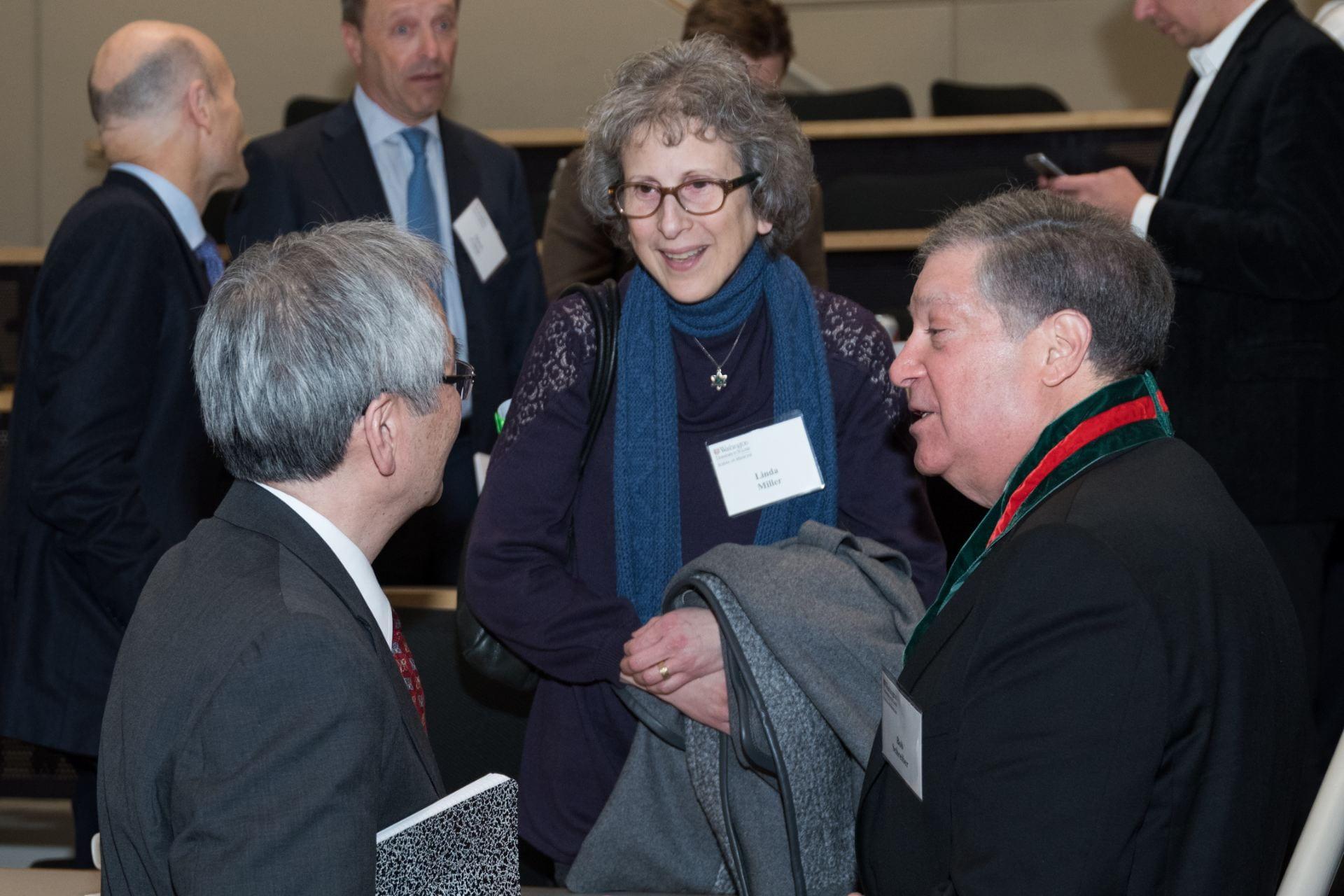 Wayne Yokoyama, special guest Dr. Linda Miller (Executive Editor of AACR's Cancer Immunology Research) and Bob Schreiber