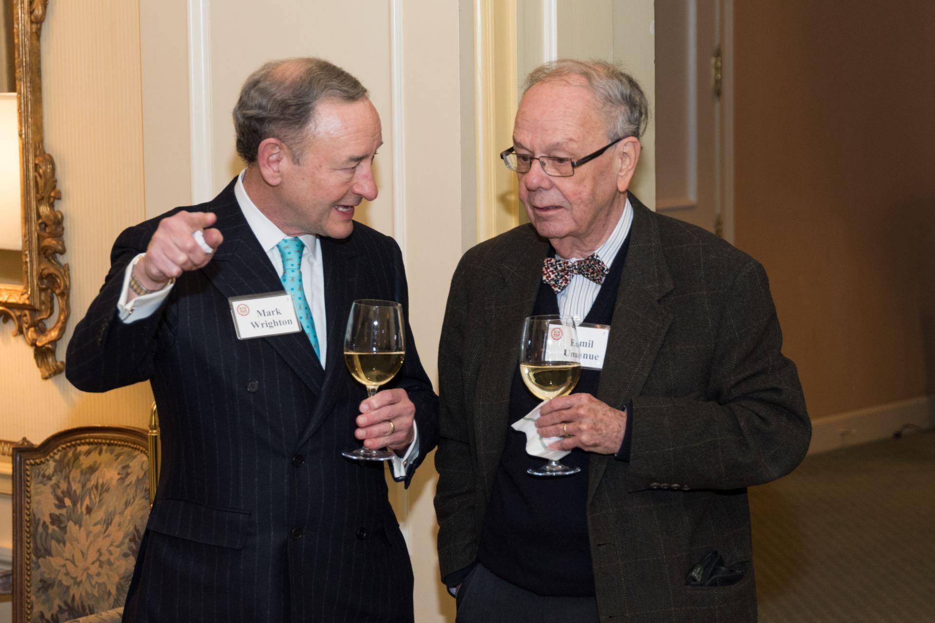 Chancellor Wrighton and Dr. Emil Unanue, the Paul & Ellen Lacy Professor of Pathology & Immunology