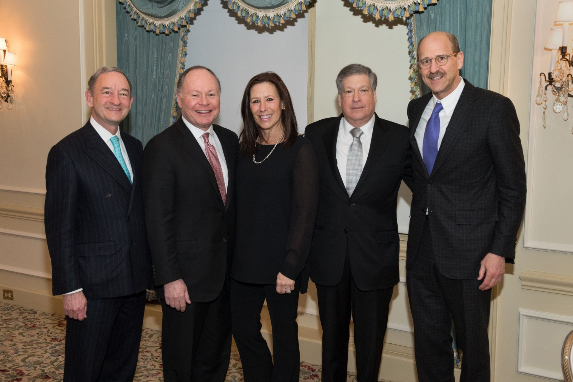 Chancellor Wrighton, Andy Bursky, Jane Bursky, Bob Schreiber, and Dean Perlmutter