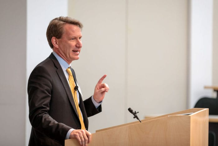 NCI director talks immunotherapy, cancer research on Med Campus