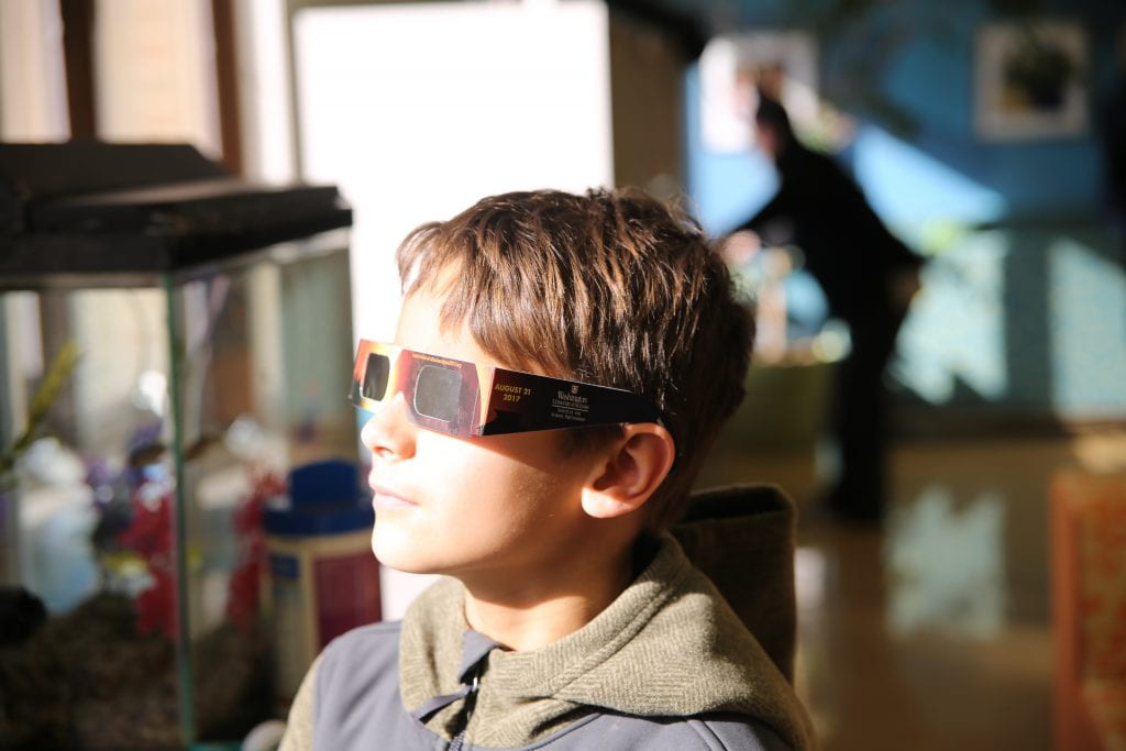 Safely observe solar eclipse with young children