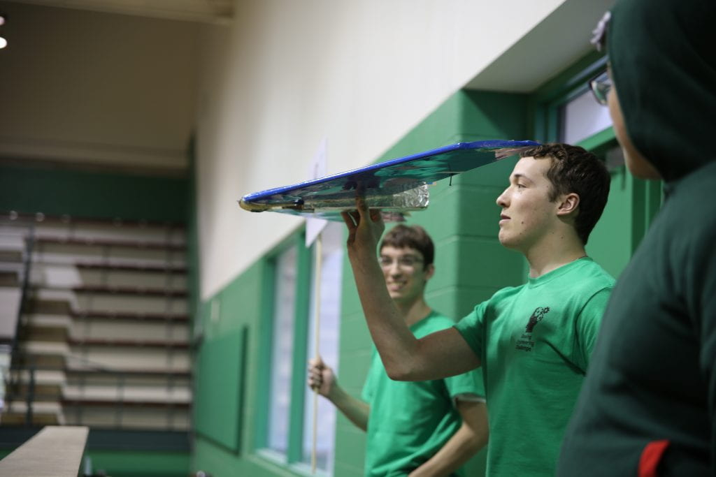 Students test their engineering might at annual Boeing design challenge