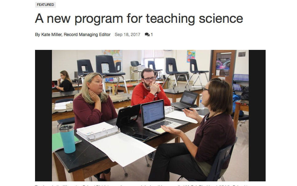 mySci program highlighted in The Warren County Record
