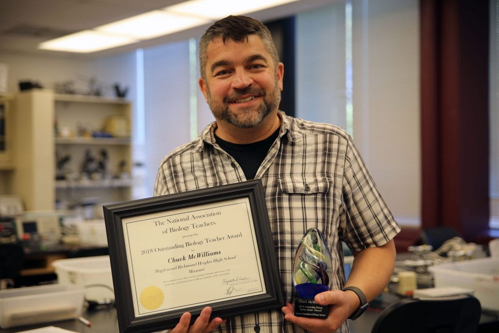Chuck McWilliams named state's top biology teacher