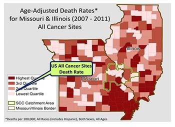 MO IL Cancer Death Rates