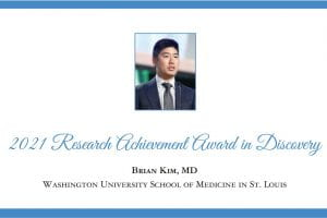 Dr. Brian Kim receives American Skin Association's 2021 Research Achievement Award in Discovery