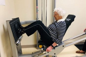 Up and At 'Em: 94-Year-Old Stronger Than Before Hip Fracture