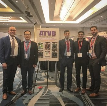 Dr. Saffaf and others by poster at ATVB Conference