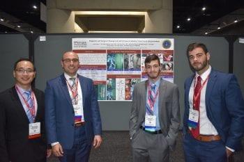 Dr. Chao and Dr. Silva with poster presentation at the Vascular Annual meeting
