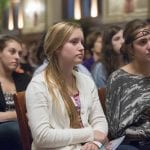 Women audience members listen attentively to panelists at the 2013 WSWU Composing a Life event