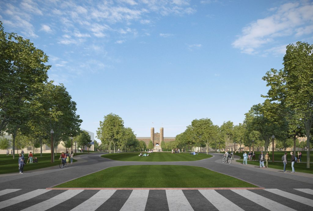 Designs shared for east end of Danforth Campus