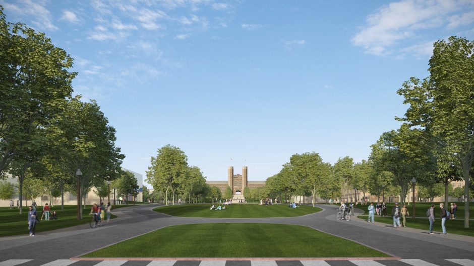Rendering of Tisch Commons, part of the East End Transformation of the Danforth Campus at Washington University in St. Louis