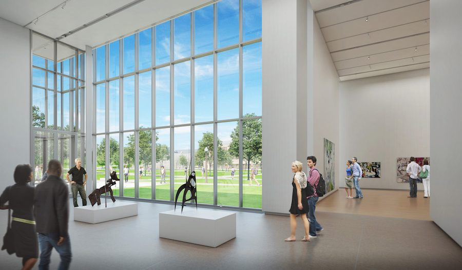 Rendering of the James M. Kemper Gallery in the Kemper Art Museum at Washington University in St. Louis