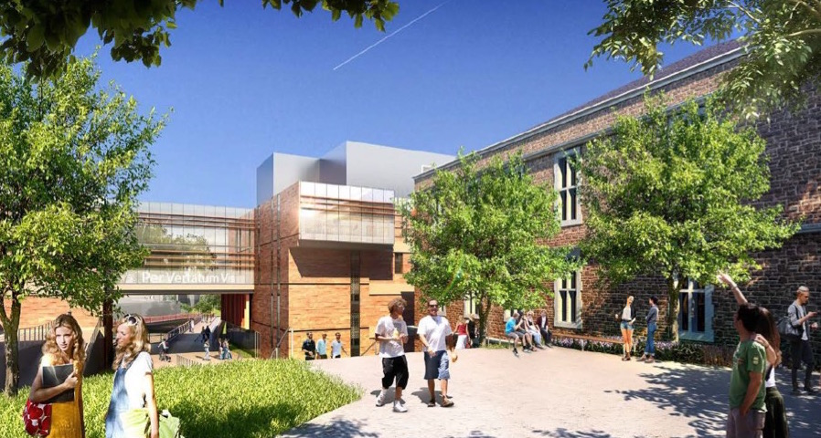 Architectural rendering of Millstone Plaza at Washington University in St. Louis