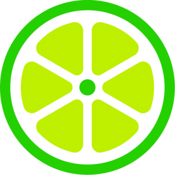 Logo mark of the bike-share company LimeBike