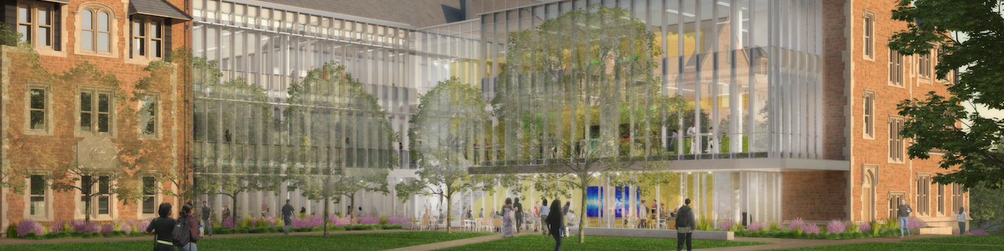 Rendering of the courtyard of McKelvey Hall, to be built on the campus of Washington University in St. Louis