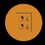 pie chart bar graph data icon