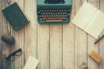 typewriter on an old desk