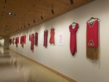 Red Dress Installation Highlights Violence Against Native Women