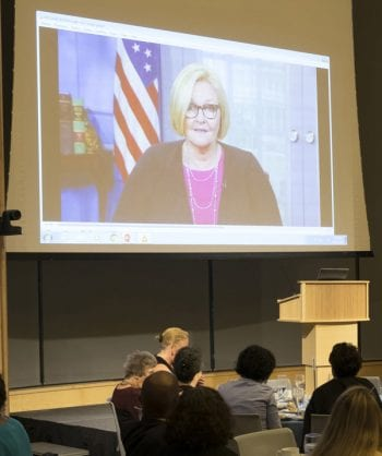 Sen. McCaskill welcomes Grand Challenges conference participants