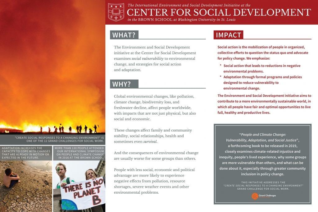 Poster highlights CSD's Environment and Social Development