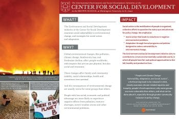 Poster highlights CSD's Environment and Social Development project
