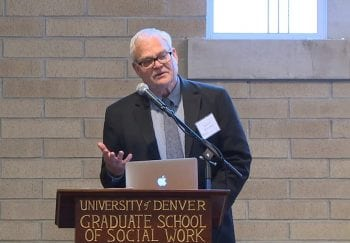 University of Denver Grand Challenges event features Michael Sherraden