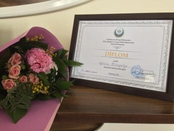 Azerbaijan ministry recognizes student for development of social work