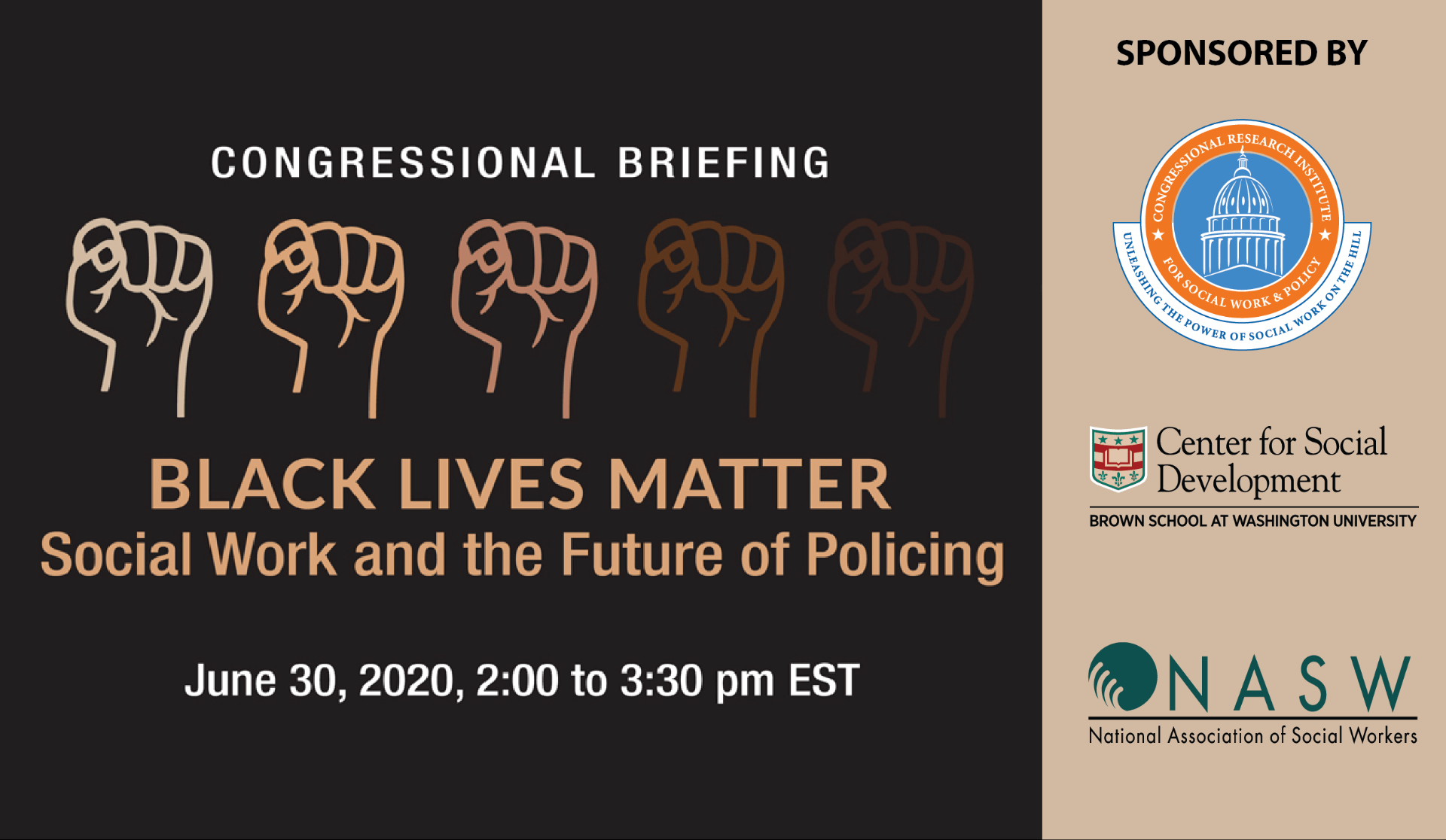 Congressional Briefing – Black Lives Matter: Social Work and the Future of Policing