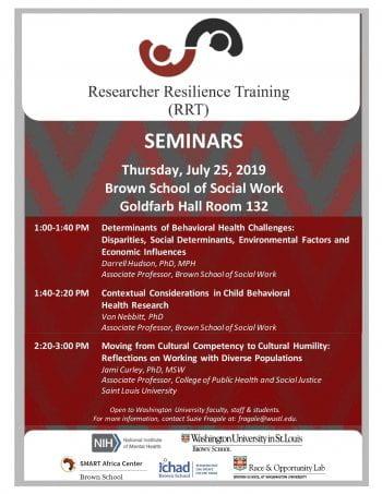 Researcher Resilience Training (RRT) Seminars