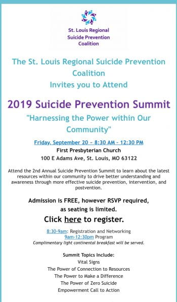 "2019 Suicide Prevention Summit ""Harnessing the Power within Our Community"""