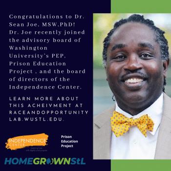 Congratulations to Dr. Sean Joe, MSW,PhD!