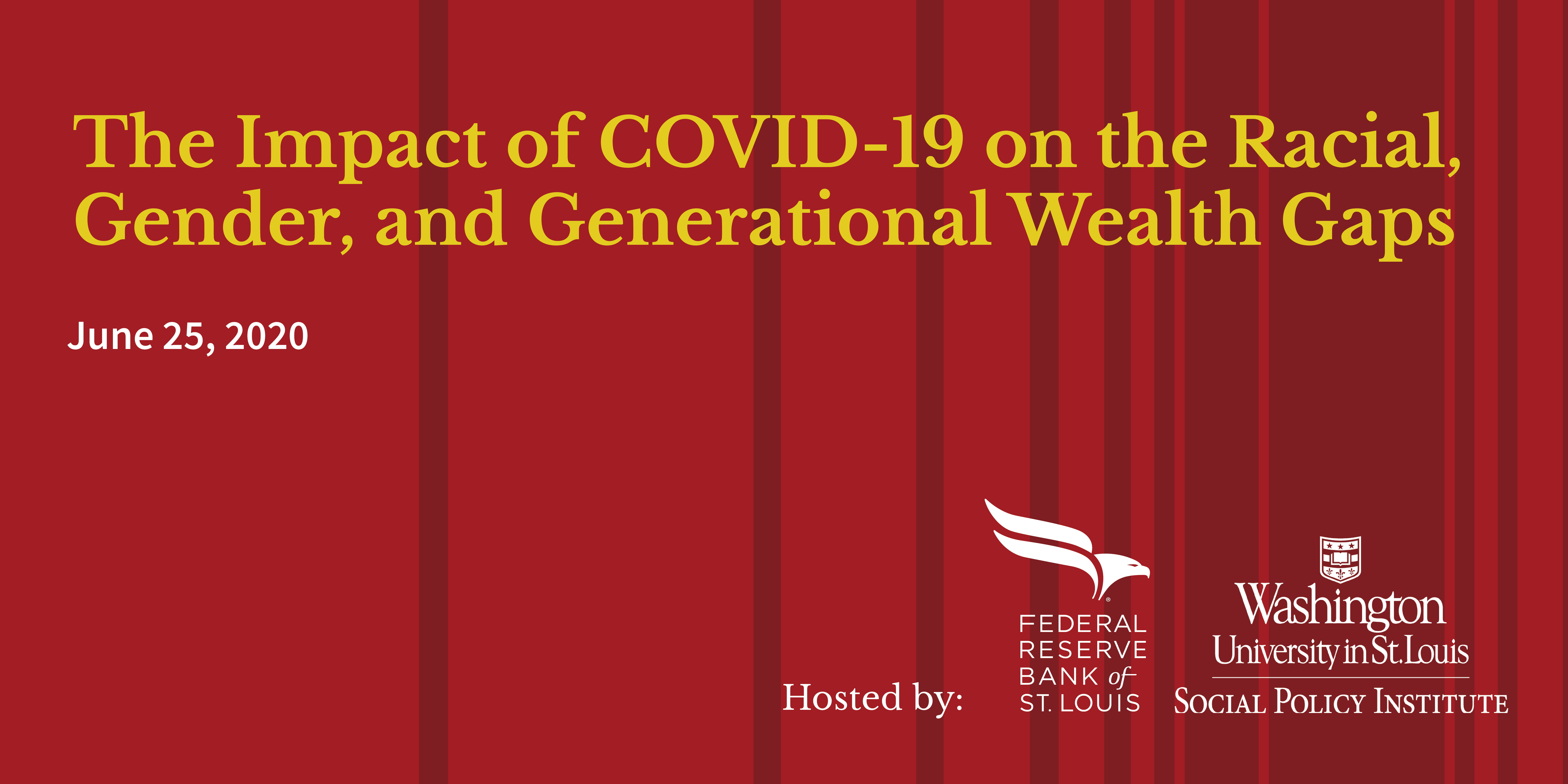 The Impact of COVID-19 on the Racial, Gender and Generational Wealth Gaps