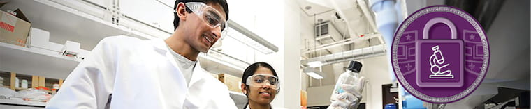 Researchers working in a lab with Controlled Unclassified Information image