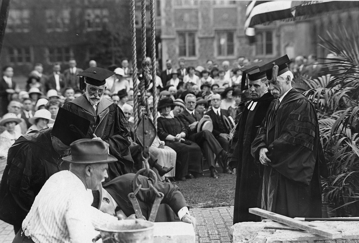 Laying of the cornerstone in Duncker Hall