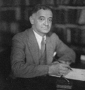 Dean Isador Loeb in 1933