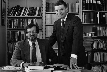 Gary Hochberg with Dean Emeritus Bob Virgil in 1988.