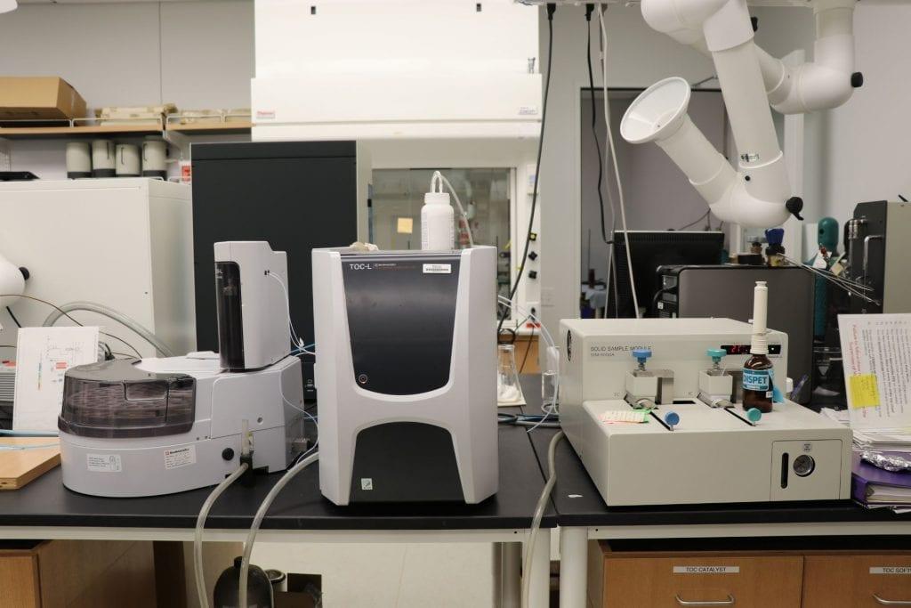 Total Organic Carbon Analyzer(TOC): Shimadzu TOC-L CPH/CPN