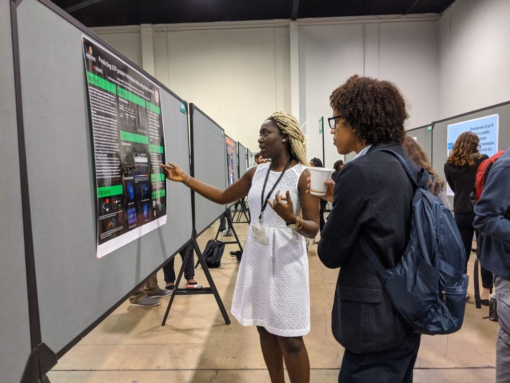 MARC uSTAR Trainee Oyin Adenekan presenting at 2019 ABRCMS Conference in Anaheim CA.