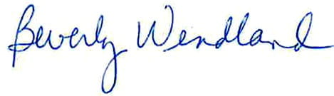 This image has an empty alt attribute; its file name is Wendland-signature.jpg