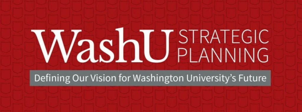 WashU Strategic Planning: Defining our vision for Washington University's future.  Click to visit the planning site.